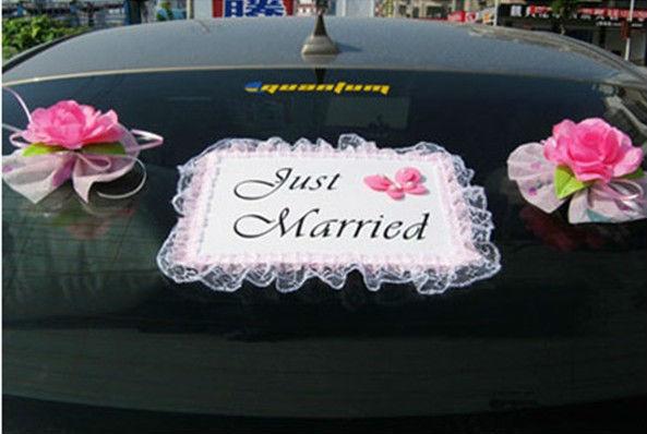 Svadobn v zdoba v zdoba auta svadobn sal n sarah michalovce predaj a po i iavanie - Just married decorations for car ...